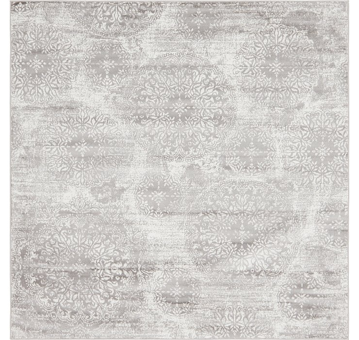 Light Gray Monte Carlo Square Rug