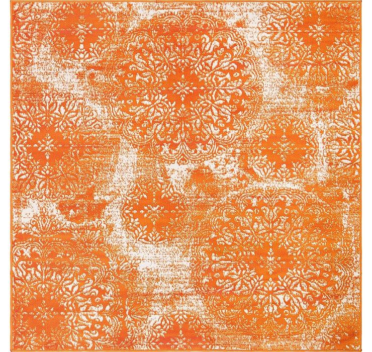 Orange Monte Carlo Square Rug