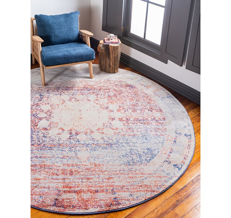 Multi Oxfordshire Round Rug