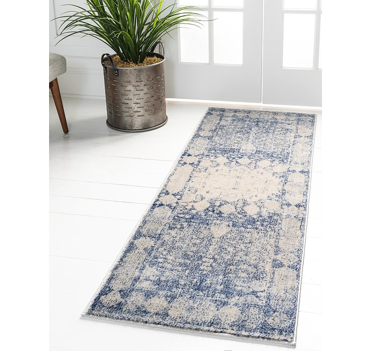 Navy Blue Oxfordshire Runner Rug