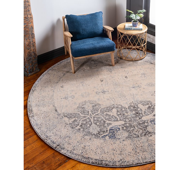 Gray Oxfordshire Round Rug