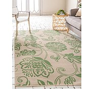 Link to Unique Loom 7' x 10' Outdoor Botanical Rug