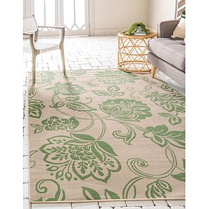 Unique Loom 4' x 6' Outdoor Botanical Rug