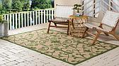 7' x 10' Outdoor Botanical Rug thumbnail image 2