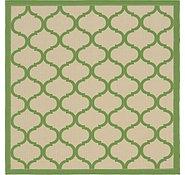 Link to Unique Loom 6' x 6' Outdoor Trellis Square Rug