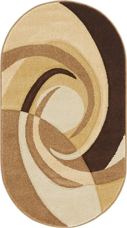 Dark Beige  2' x 3' 7 Reproduction Gabbeh Oval