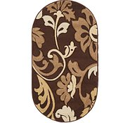 Link to 2' 8 x 4' 10 Damask Oval Rug