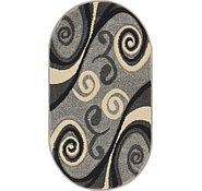 Link to 2' x 3' 7 Reproduction Gabbeh Oval Rug