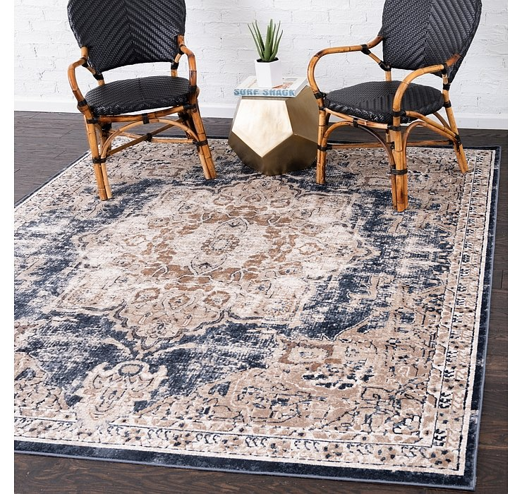 Dark Blue Eliza Square Rug
