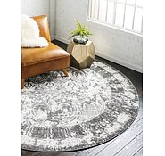 Link to Unique Loom 8' x 8' Rosso Round Rug