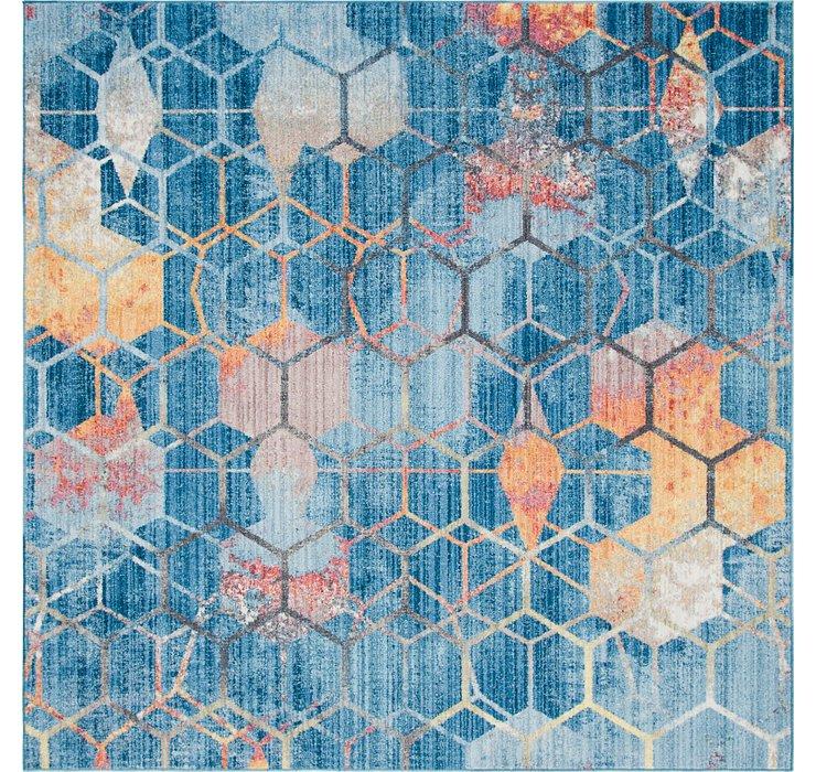 Blue Andromeda Square Rug