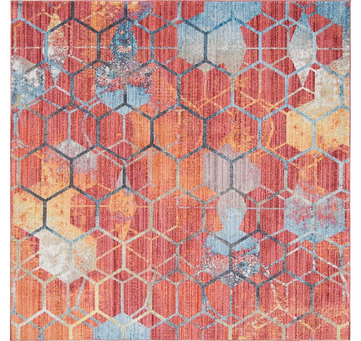 Red Andromeda Square Rug