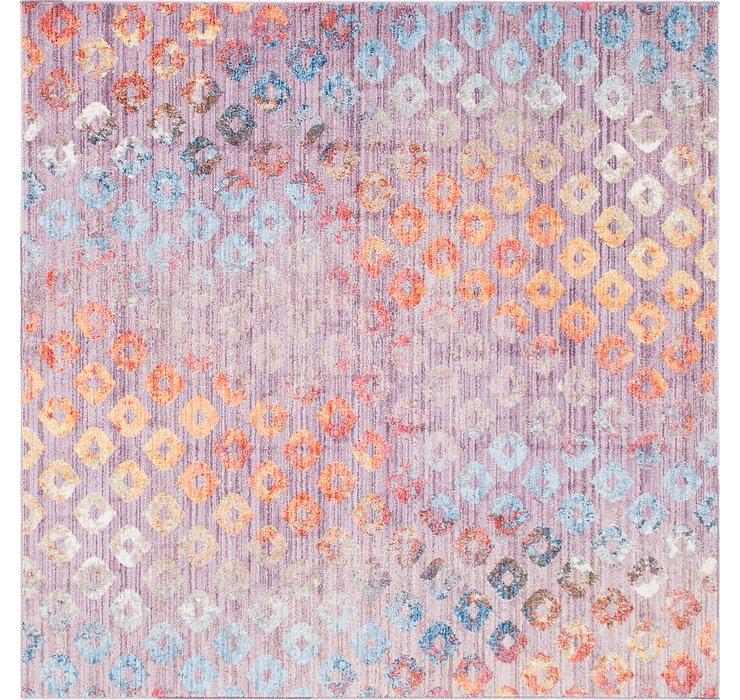 Lilac Andromeda Square Rug