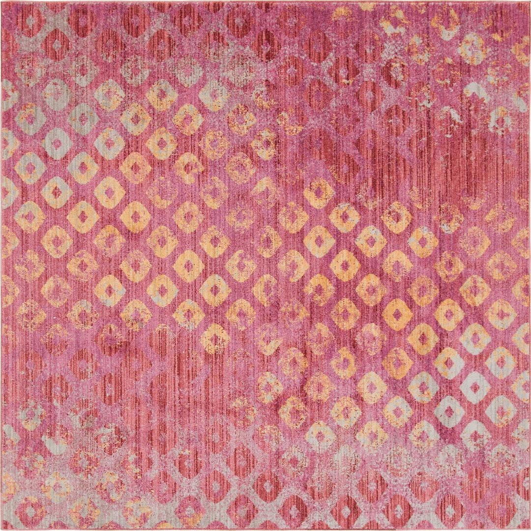 Pink 8 X 8 Andromeda Square Rug Area Rugs Rugs Com