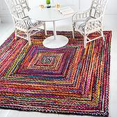 8' x 8' Braided Chindi Square Rug thumbnail image 1