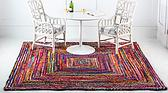8' x 8' Braided Chindi Square Rug thumbnail image 3