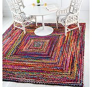 Link to Unique Loom 8' x 8' Braided Chindi Square Rug