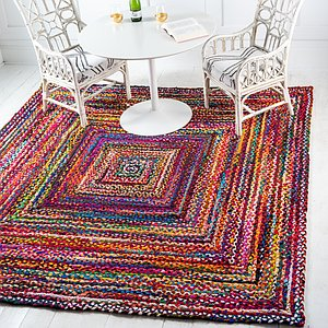Unique Loom 8' x 8' Braided Chindi Square Rug