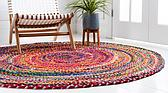 Unique Loom 3' 3 x 3' 3 Braided Chindi Round Rug thumbnail image 11