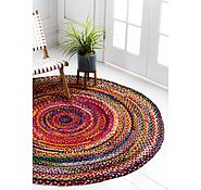 Link to 183cm x 183cm Braided Chindi Round Rug