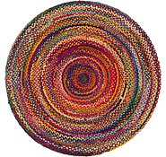 Link to 6' x 6' Braided Chindi Round Rug