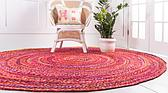 Unique Loom 8' x 8' Braided Chindi Round Rug thumbnail image 3