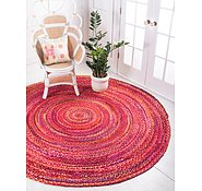 Link to 100cm x 100cm Braided Chindi Round Rug