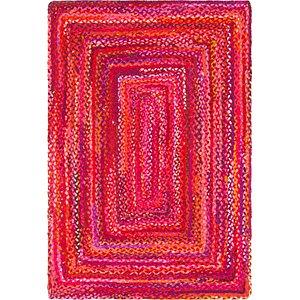 4' x 6' Braided Chindi Rug