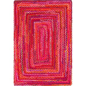 Unique Loom 4' x 6' Braided Chindi Rug