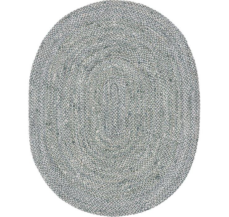 8' x 10' Braided Chindi Oval Rug