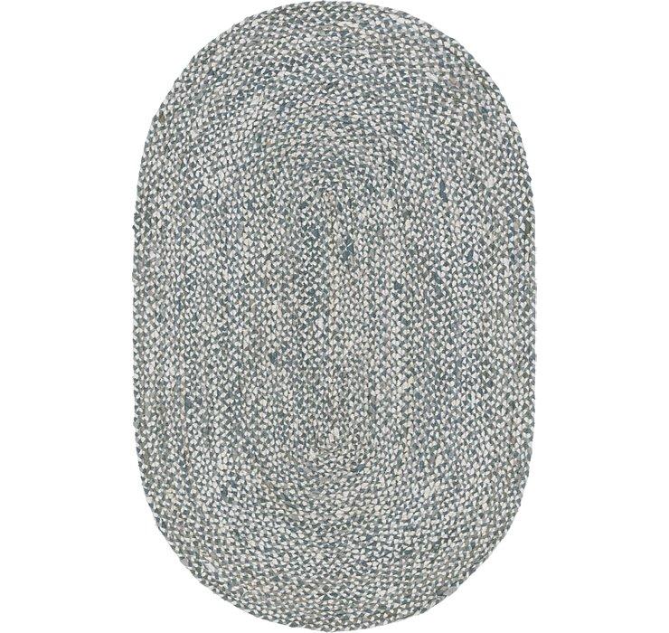 5' x 8' Braided Chindi Oval Rug