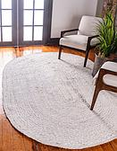 3' 3 x 5' Braided Chindi Oval Rug thumbnail image 1