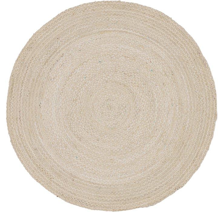 8' x 8' Braided Chindi Round Rug
