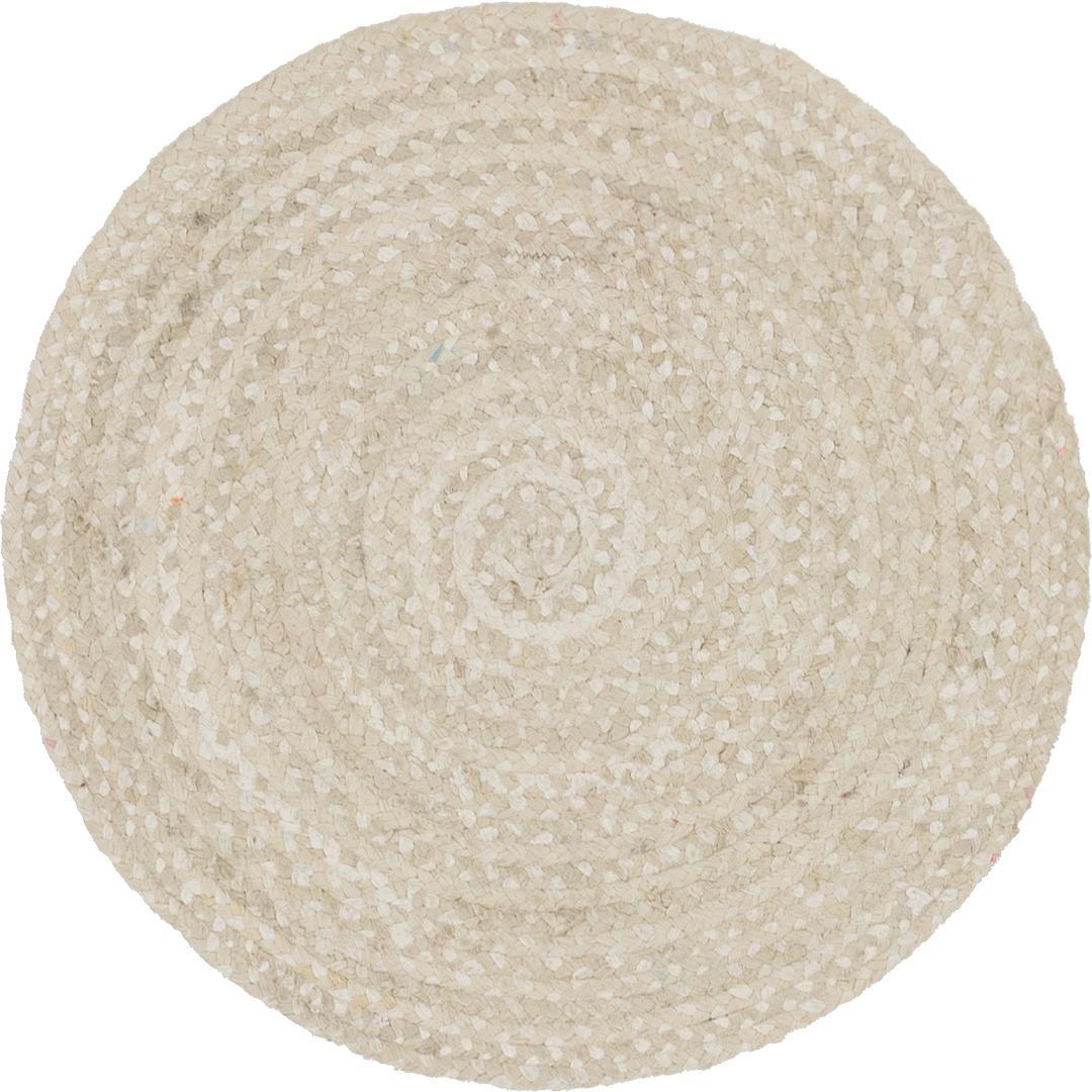 Ivory 3 3 X 3 3 Braided Chindi Round Rug Area Rugs
