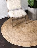 Unique Loom 8' x 8' Braided Jute Round Rug thumbnail image 1