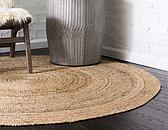 Unique Loom 8' x 8' Braided Jute Round Rug thumbnail image 3