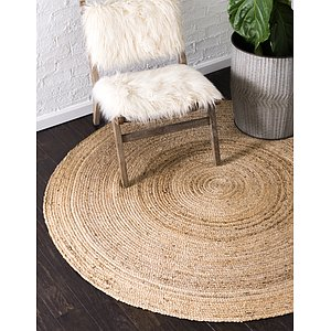 Unique Loom 6' x 6' Braided Jute Round Rug