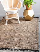 Unique Loom 6' x 9' Braided Jute Rug thumbnail image 1