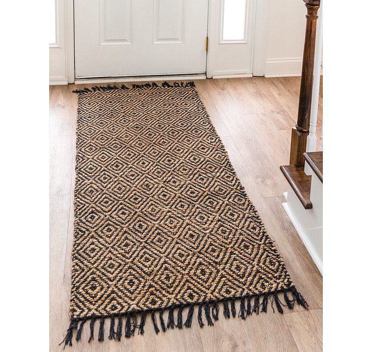 Natural Braided Jute Runner Rug