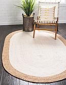 Unique Loom 5' x 8' Braided Jute Oval Rug thumbnail image 1