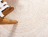 3' 3 x 5' Braided Jute Oval Rug thumbnail