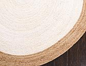 Unique Loom 5' x 8' Braided Jute Oval Rug thumbnail image 8