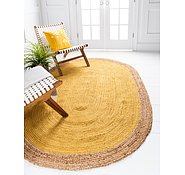 Link to Unique Loom 3' 3 x 5' Braided Jute Oval Rug