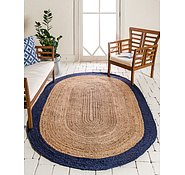 Link to Unique Loom 5' x 8' Braided Jute Oval Rug