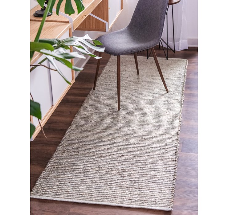 2' 6 x 6' Metallic Jute Runner Rug