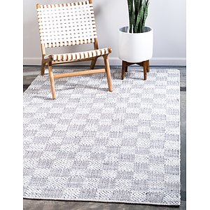 Unique Loom 5' x 8' Chindi Cotton Rug