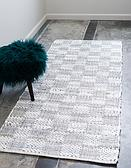 2' 6 x 6' Chindi Cotton Runner Rug thumbnail image 1