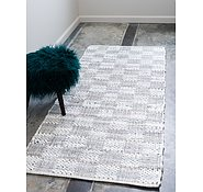 Link to Unique Loom 2' 6 x 6' Chindi Cotton Runner Rug
