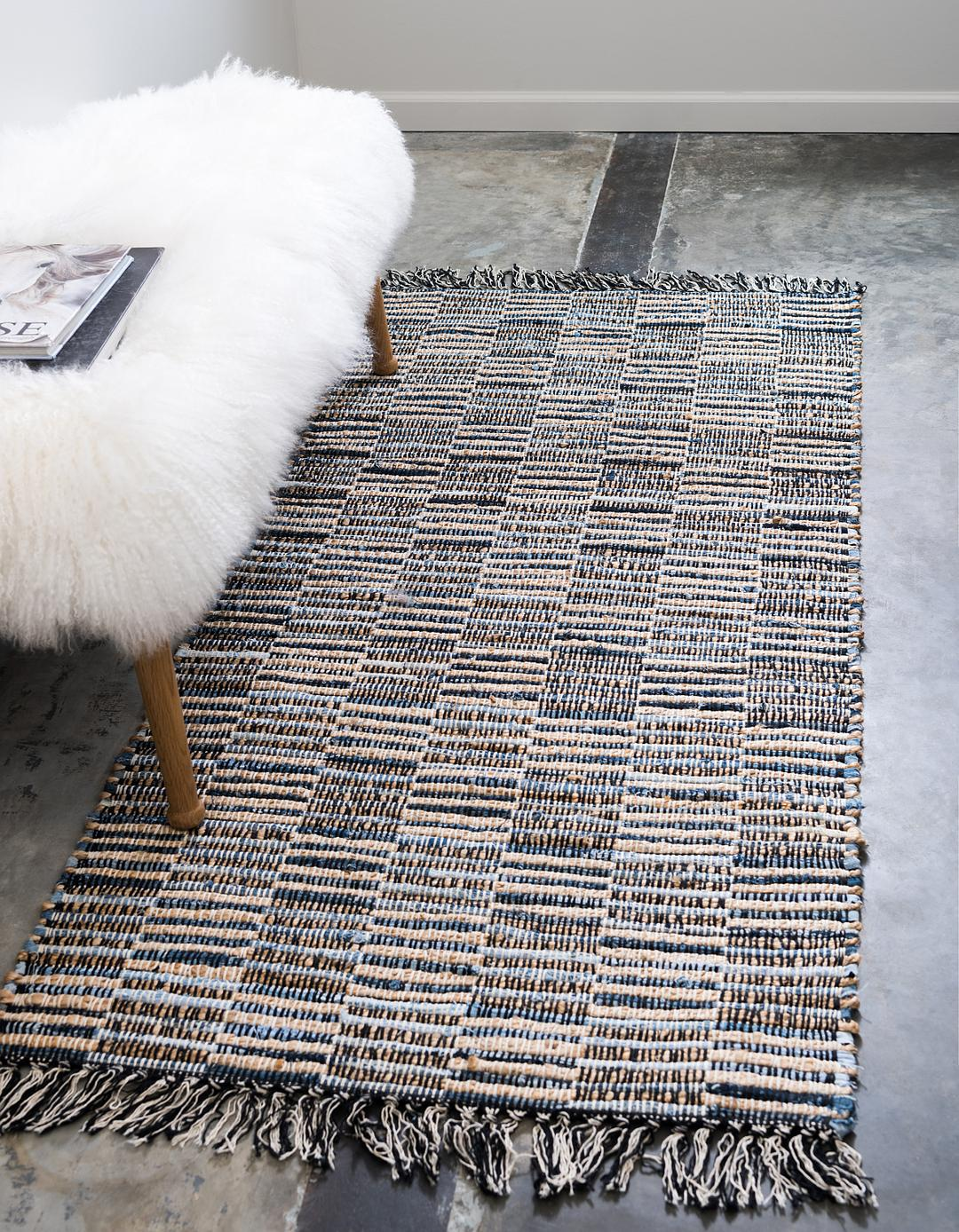 delightful Chindi Runner Part - 13: Main 2u0027 6 x 6u0027 Chindi Jute Runner Rug photo