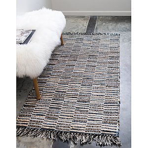 Unique Loom 2' 6 x 6' Chindi Jute Runner Rug